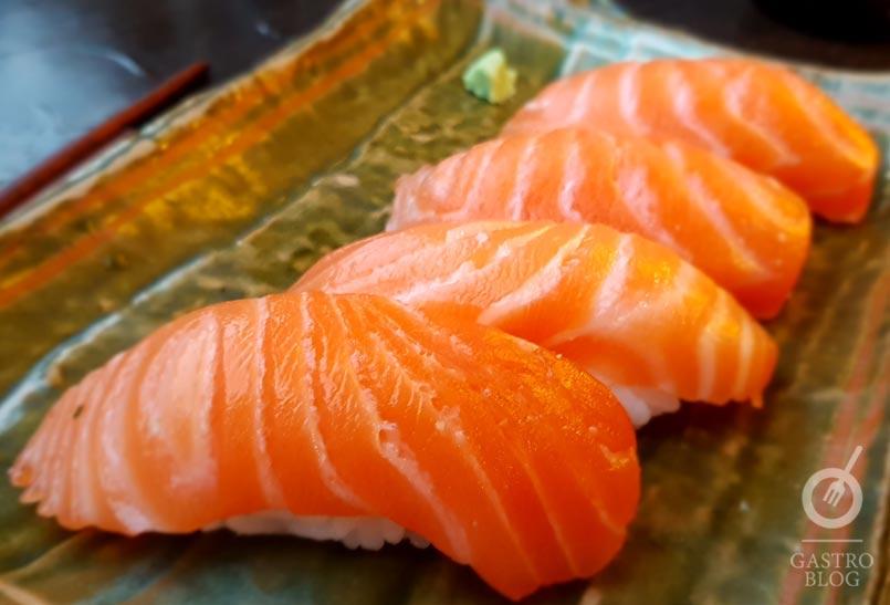 Nigiri Salmon restaurante nikkei