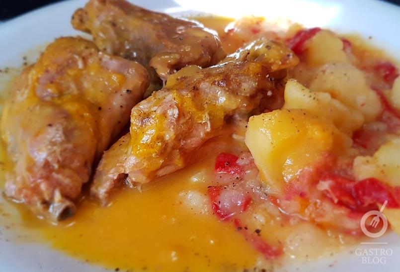 Pollo al curry_arama_ostatua